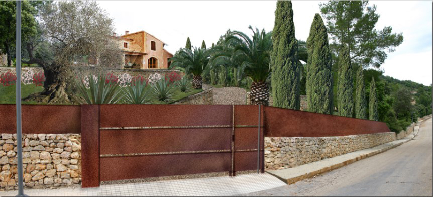 One of our garden projects in the North of Mallorca (render image)
