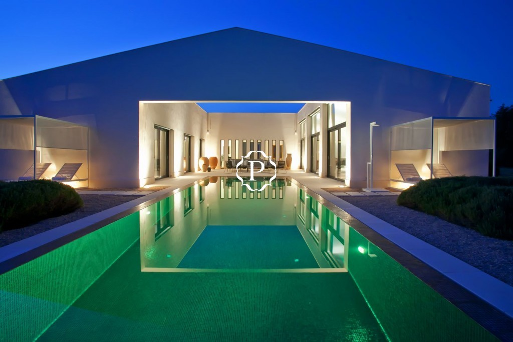 twilight pool & house